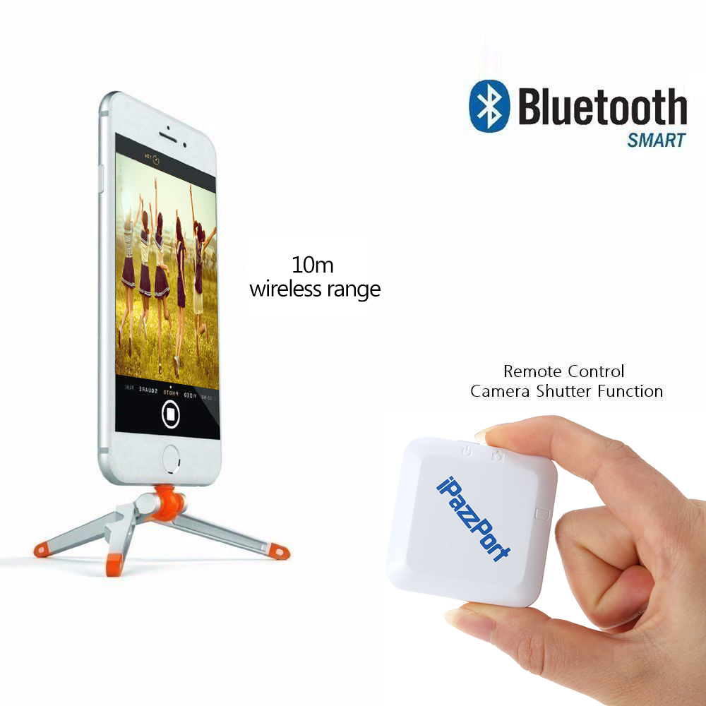 iPazzPort Bluetooth 4.0 APP Phone One Phone Dual SIM Card Adapter Camera Remote Control Shutter for iPhone/iPod Touch/iPad(China (Mainland))