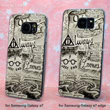Harry Potter Deathly Hallows transparent clear hard Cover Case Samsung Galaxy s3 s4 s5 mini s6 s7 edge - Jomic store