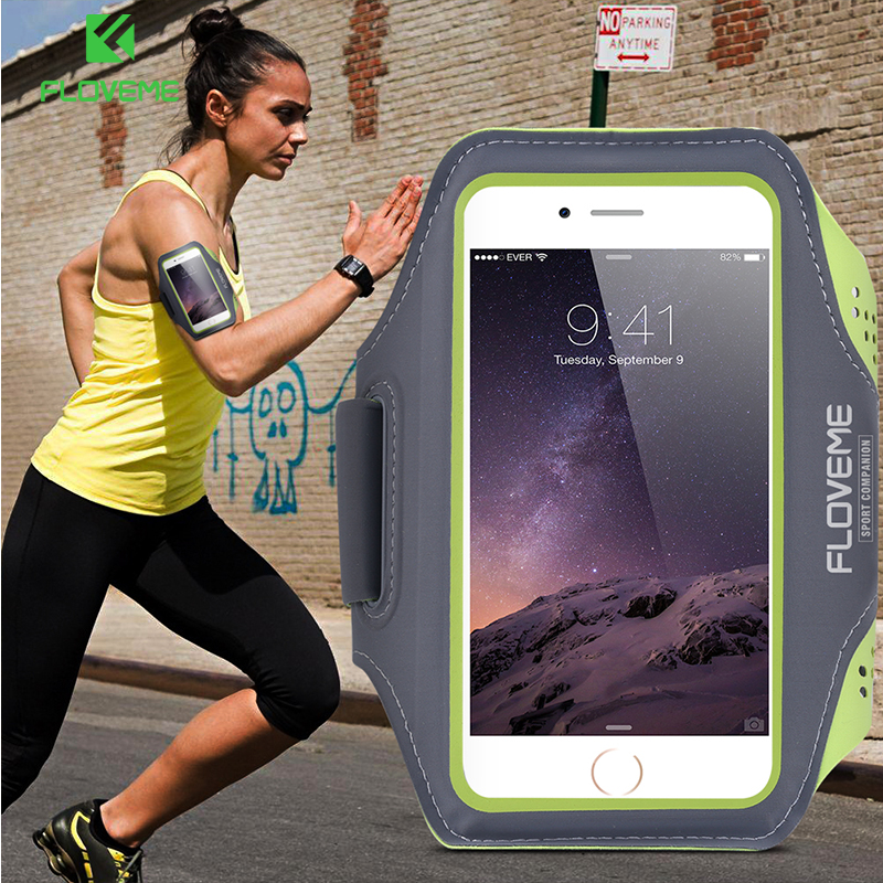 FLOVEME Waterproof Sport Arm Band Case For iPhone 7 6 6S 7 Plus 6 Plus 6S Plus Warkout Running Gym Phone Accessories Cover Bags(China (Mainland))