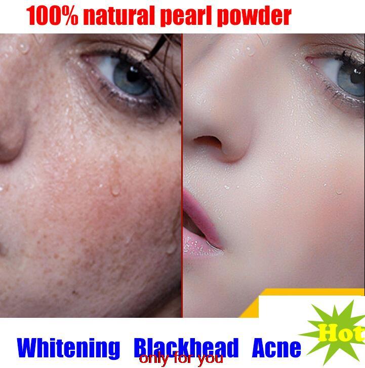 100% Natural Pearl Powder Freshly Ground Ultrafine Nanoscale Oral Topical Acne Whitening Mask Powder Blackheads 10g(China (Mainland))