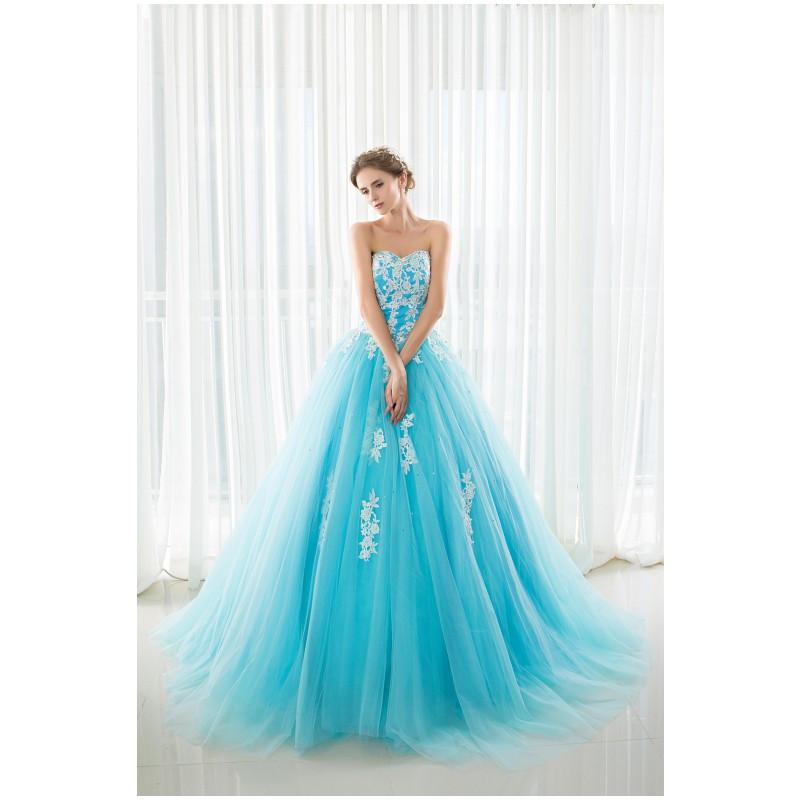 Online get cheap sky blue wedding dresses for Sky blue wedding guest dresses