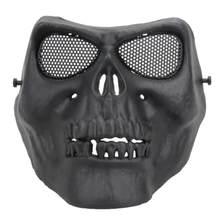 TPR Ciclismo Viso Mask Creepy Horror Skull Mezza Viso Maschera per CS Paintball Del Partito di Cosplay oggetti di Scena Le Tossine/Odore di Trasporto viso di Protezione(China)
