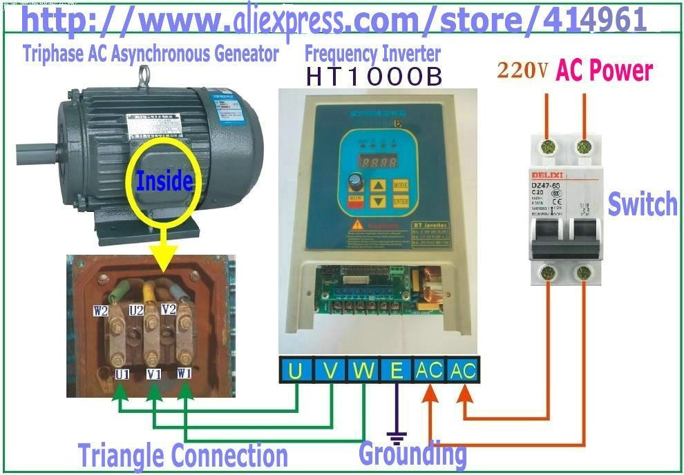 hot sale 7a hengtai ht1000b used frequency converter 220v