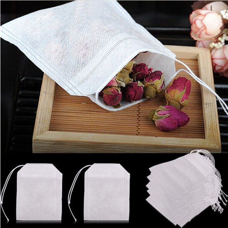 100 PCS/Lot 5.5*7CM Empty Tea Bags with String Heal Seal Filter Paper For Loose Tea New Arrival Teabag(China (Mainland))