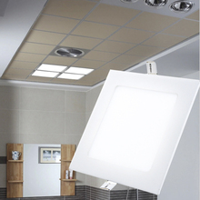 Xtf2015 9W Squar&Round Cool&Warm White Top Bright Super-thin  LED Panel Lamps Ceiling Light LED T-P9(China (Mainland))