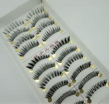 10 Pair Different Styles From Top Fake Eyelashes Mixed Natural Thick False Eyelashes Slim Cross Section Fake Eyelashes(China (Mainland))