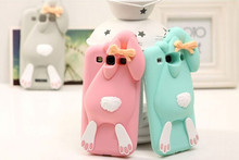 With Logo 3D Cute cartoon cases Cover For Samsung Galaxy S3 i9300 Bunny Rabbit Rubber Soft Silicone Case(China (Mainland))