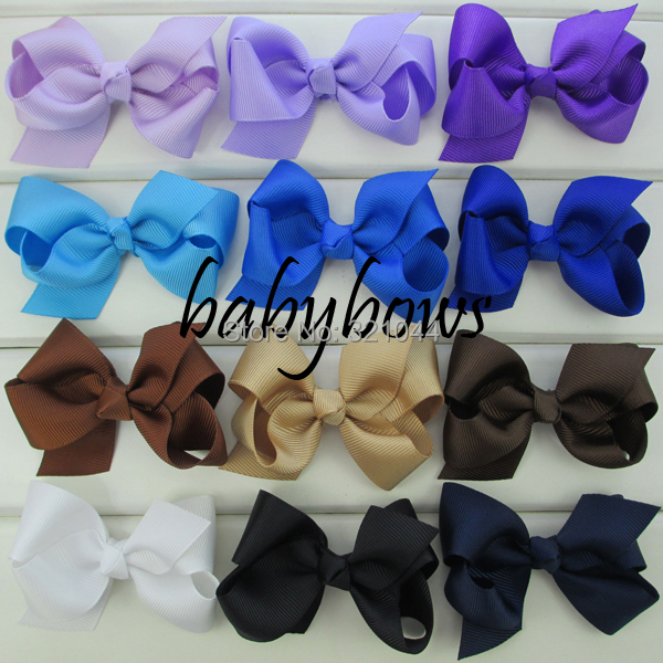 100pcs/lot 3.3'' Grosgrain Hair Ribbon Bows WITHOUT Clips Hair Organizer For Baby Girls' Hair Accessories Free Shipping(China (Mainland))