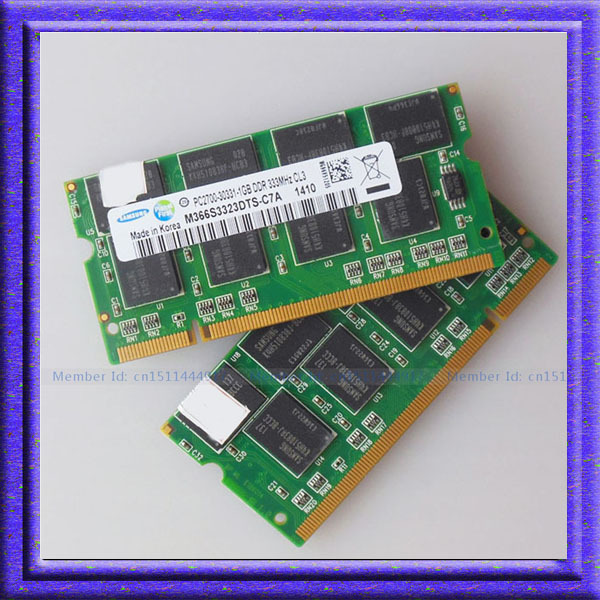Samsung  2x1GB PC2700 DDR333 200PIN ddr 333mhz memory DDR Laptop RAM Original authentic SODIMM Notebook MEMORY Free shipping<br><br>Aliexpress