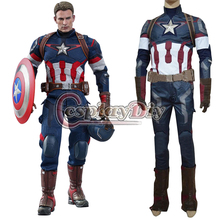 Custom Made Age of Ultron Avengers Captain America Movie Costume Steve Rogers Outfit Adult Men Halloween Cosplay Costume D0513