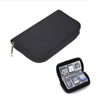 Черный чехол для SD SDHC MMC CF Micro SD карт памяти и держатель карт