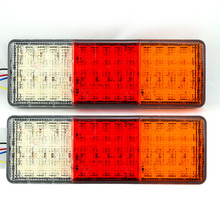 2pcs/pair 12V 75 LED Waterproof Tail Light Lamp For Trailer Truck Boat 75 LED Truck Taillights(China (Mainland))