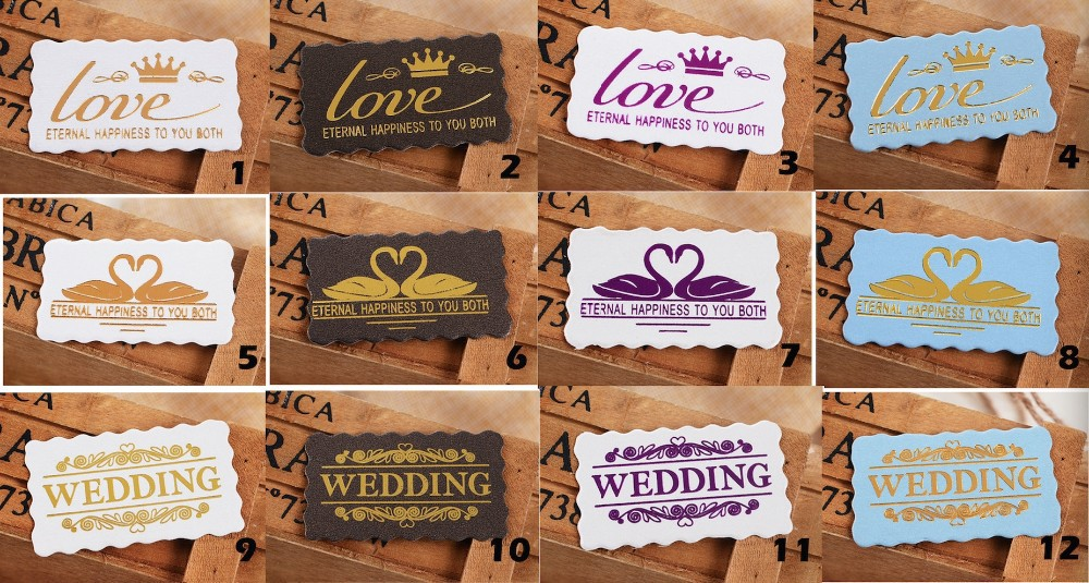 Gold Foil Paper Gift Cards/ Paper Tags for Wedding Box Decoration ...