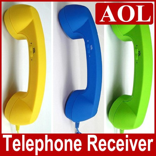 EMS Free shipping 20pcs/lot wholesale New Arrival moshi moshi pop phone ,Retro Handset phone 10colors for iphone 4, 3GS, 3G(China (Mainland))