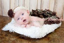 Free Shipping Newborn Infant Baby Girls Pettiskirt Tutu NB-12M - Brown Gold Leopard(Hong Kong)