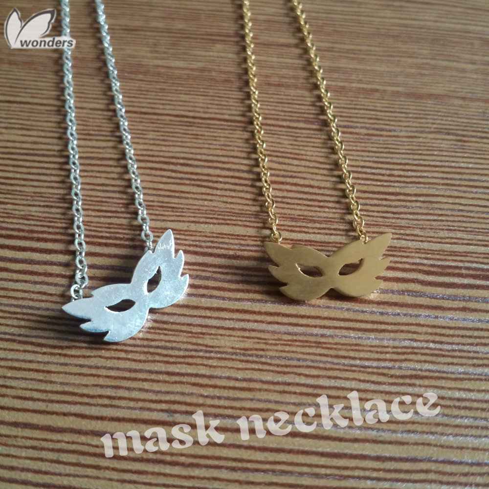 Mask necklace steampunk masquerade jewelry fashion 2014<br><br>Aliexpress