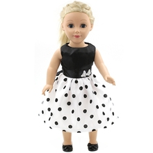 Handmade 15 Colors Princess Dress Doll Clothes for 18 inch Dolls American Girl Doll Clothes and Accessories D-9(China (Mainland))