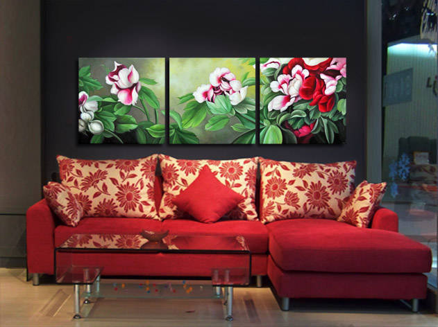 2016 New Arrival Large Flower Art Paint On Canvas Oil Painting Traditional Chinese Luxury Wall Picture Painting Buy Online Sale(China (Mainland))