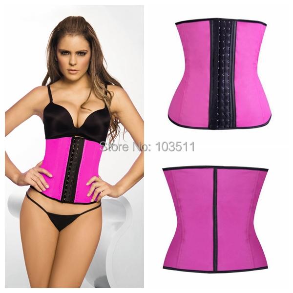 2015 Hot Deportiva sport latex waist cincher trainer hot shaper fast weight loss girdle slimming belt waist training corsets