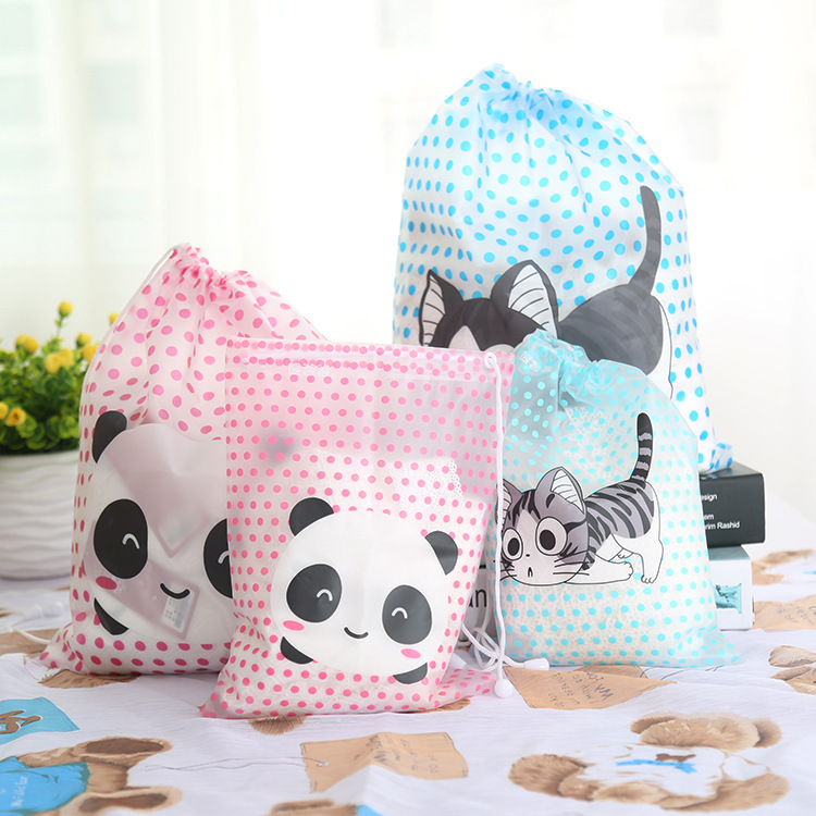 2016 NEW Cartoon Polka Dot storage bag waterproof clothing Travel pouch Travel clothes Finishing Bag 2PCS(China (Mainland))