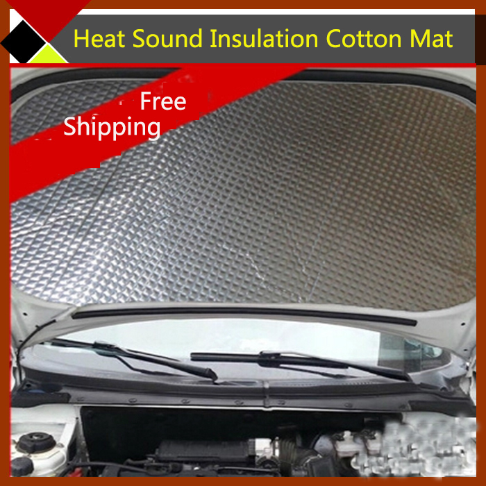 Free Shipping ! SUV Car Engine Ceiling Roof Door Aluminum Foil Heat Shield Sound Insulation Cotton Deadening Mat 460cm x100cm(China (Mainland))