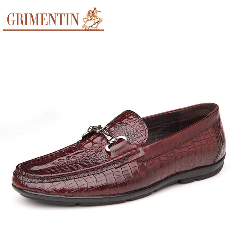 grimentin fashion unique crocodile casual shoes