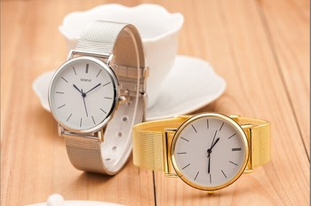 Stainless Steel Casual Geneva Quartz Watch