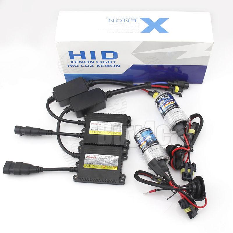 35W hi/lo Car Headlight HID Xenon Kit Slim Ballast lights Bulb Single Beam H1 H3 H7 H8 H9 H10 H11 4300K 5000K 6000K 8000K 10000K(China (Mainland))