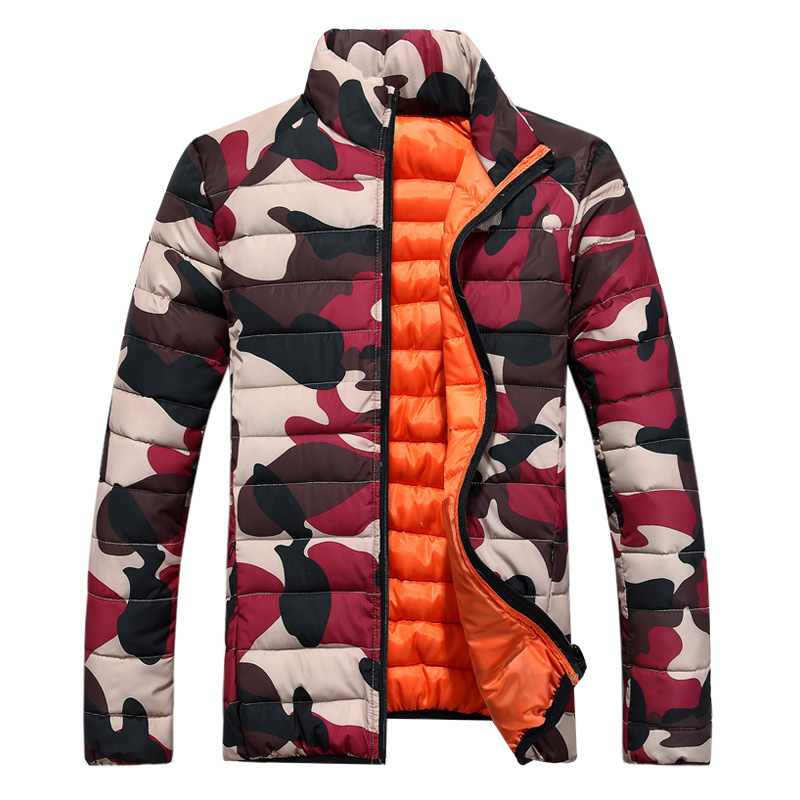 Retail 2015 Winter Men Jacket Warm Cotton-padded male Camouflage stand collar wadded jacket outerwear Plus Size NWT - M&M O Batman store