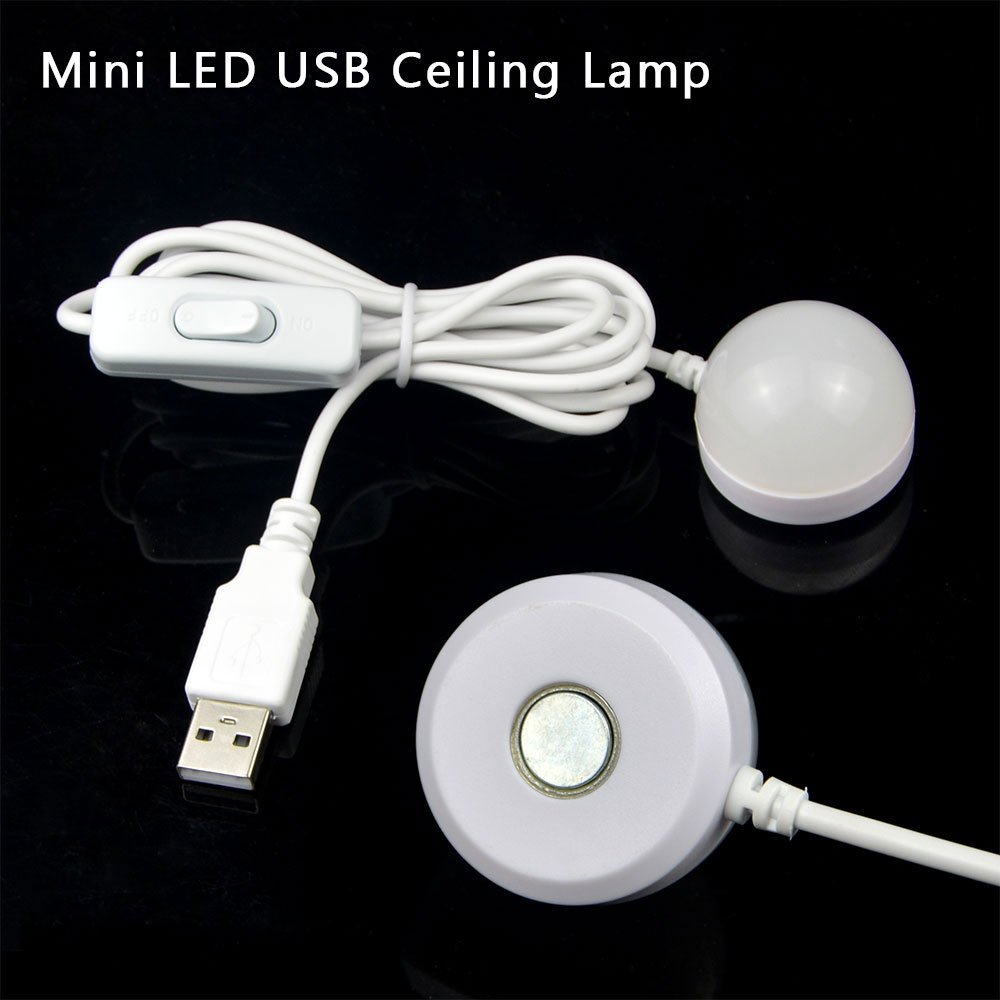 NEW Mini 3W USB LED Ceiling lamp For Desk Reading lamp Camping Book With Switch ON/OFF Emergency Night light Toys Gifts(China (Mainland))