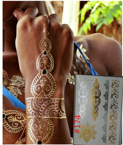Gold Body Stickers Body Painting Flash Gold