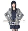 CX G A 149B Rabbit Fur knitted Jacket Wholesale Ladies Fashion Hot selling Fur jacket