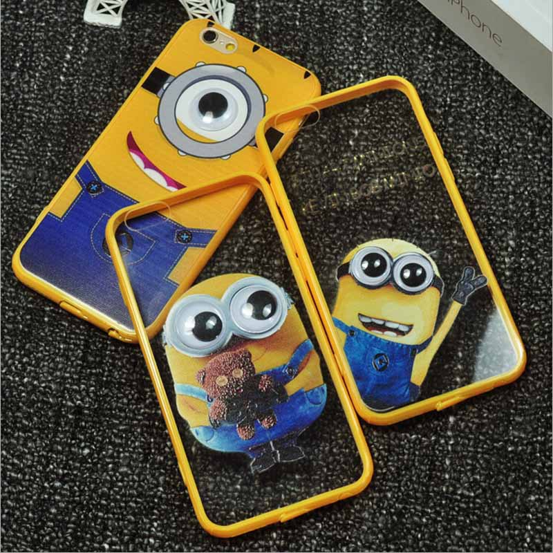 DHL Shipping 52015 New Minions Mobile Phone Case Iphone 5, 5S ,6,6 Plus 6 Style TPU Cover - Shenzhen Ray-E Technolory Co.,Ltd store