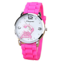 New Silicone Strap Watch Women Phone Picture Watches Shangmei Fashion Ladies Dress Wristwatch 5 Colors Female Chain Watch Sale