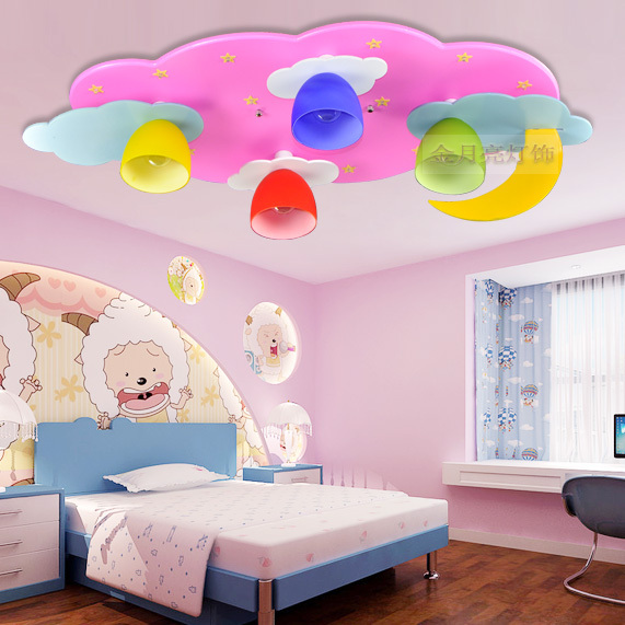 Cartoon children 39 s room lamp led ceiling lights kids boys for Kids ceiling lights for bedroom