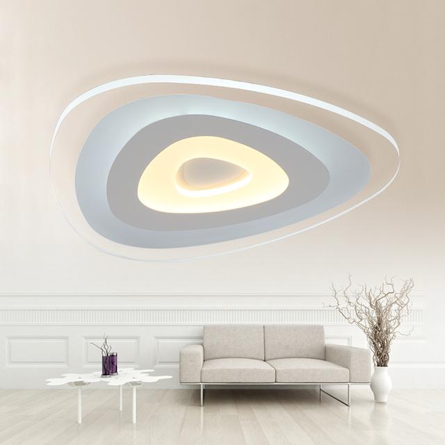 afstandsbediening woonkamer slaapkamer moderne led plafond verlichting luminarias dimmen led. Black Bedroom Furniture Sets. Home Design Ideas