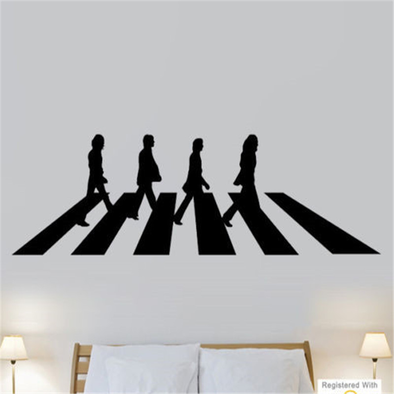 Online buy wholesale abbey road vinyl from china abbey for Abbey road mural