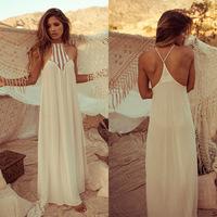 Summer Style 2015 Women Vintage Hippie Boho People Long Maxi Evening Party Chiffon Dress Beach Dresses Vestido WM15612