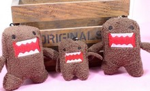 10PCS Size Bigger 7*5CM Domo KUN Plush Stuffed TOY Small Phone Charm Strap Pendant Lanyard DOLL , BAG Key Chain TOY Bouquet TOY(China (Mainland))