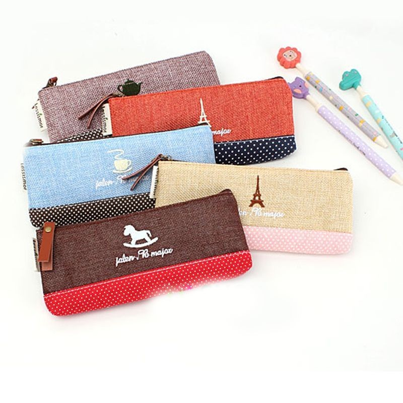 Vintage Pencil Pen Case Cosmetic Makeup Bag Pouch Holder Women Cosmetic Bags Fresh purse Coin case Free Shipping<br><br>Aliexpress