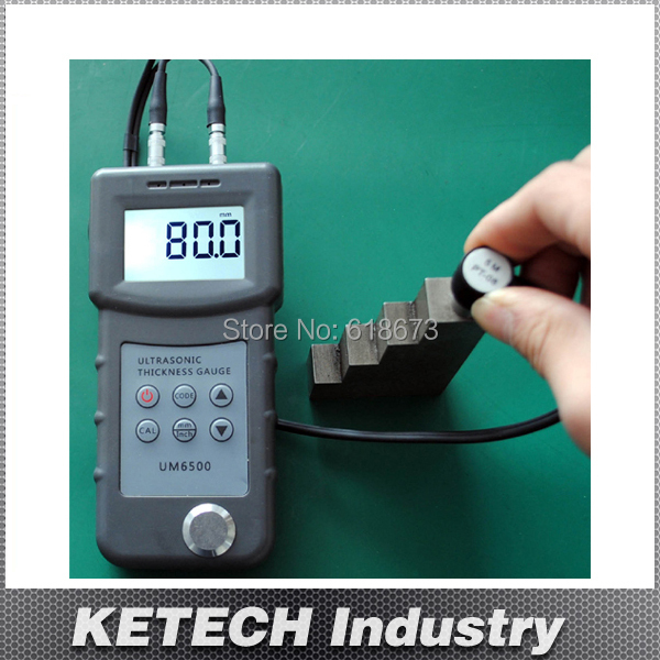 Portable Digital Ultrasonic Thickness Gauge,Metal Thickness Meter UM6500(China (Mainland))