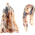 Women 2016 Summer Floral Scarf Begonia Chinese Rose Pattern Scarves Fashion Viscose Shawl Sjaals Dames Sciarpe