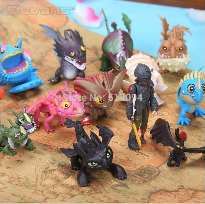 Anime Cartoon How to Train Your Dragon 2 Toothless PVC Action Figures Toys for Children 13pcs/set DSFG212<br><br>Aliexpress