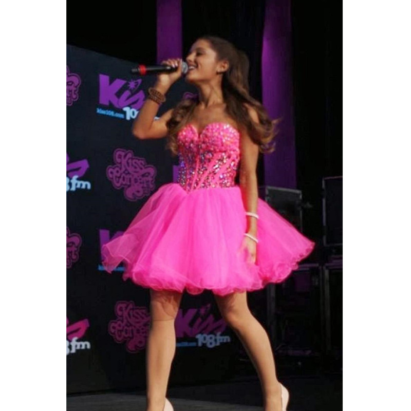 Hot Pink Homecoming Dresses Short 32