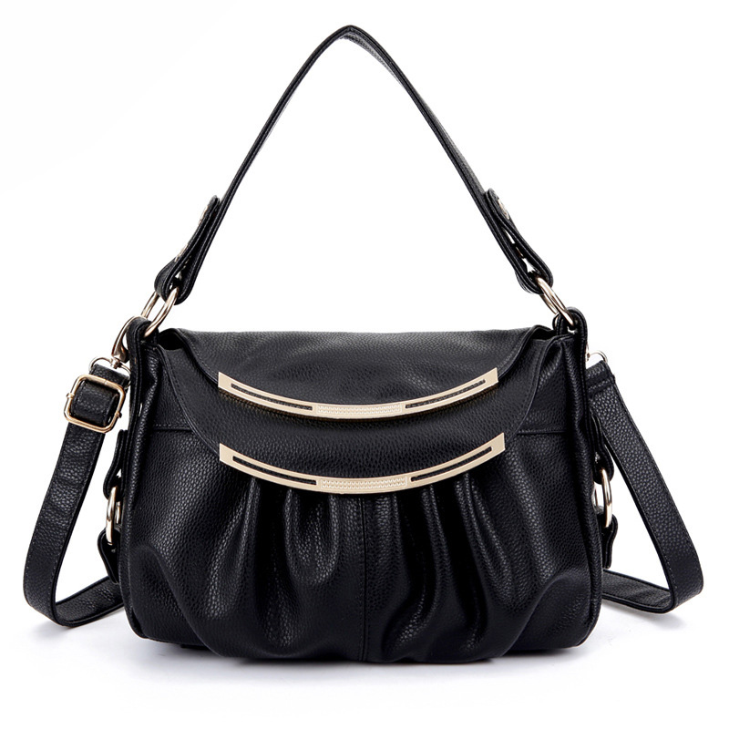 Women's Simple Genuine Leather Handbag Two Ply Cow Leather Fashion Tobago Messenger Bag Cross Body Handbags 35ZF(China (Mainland))