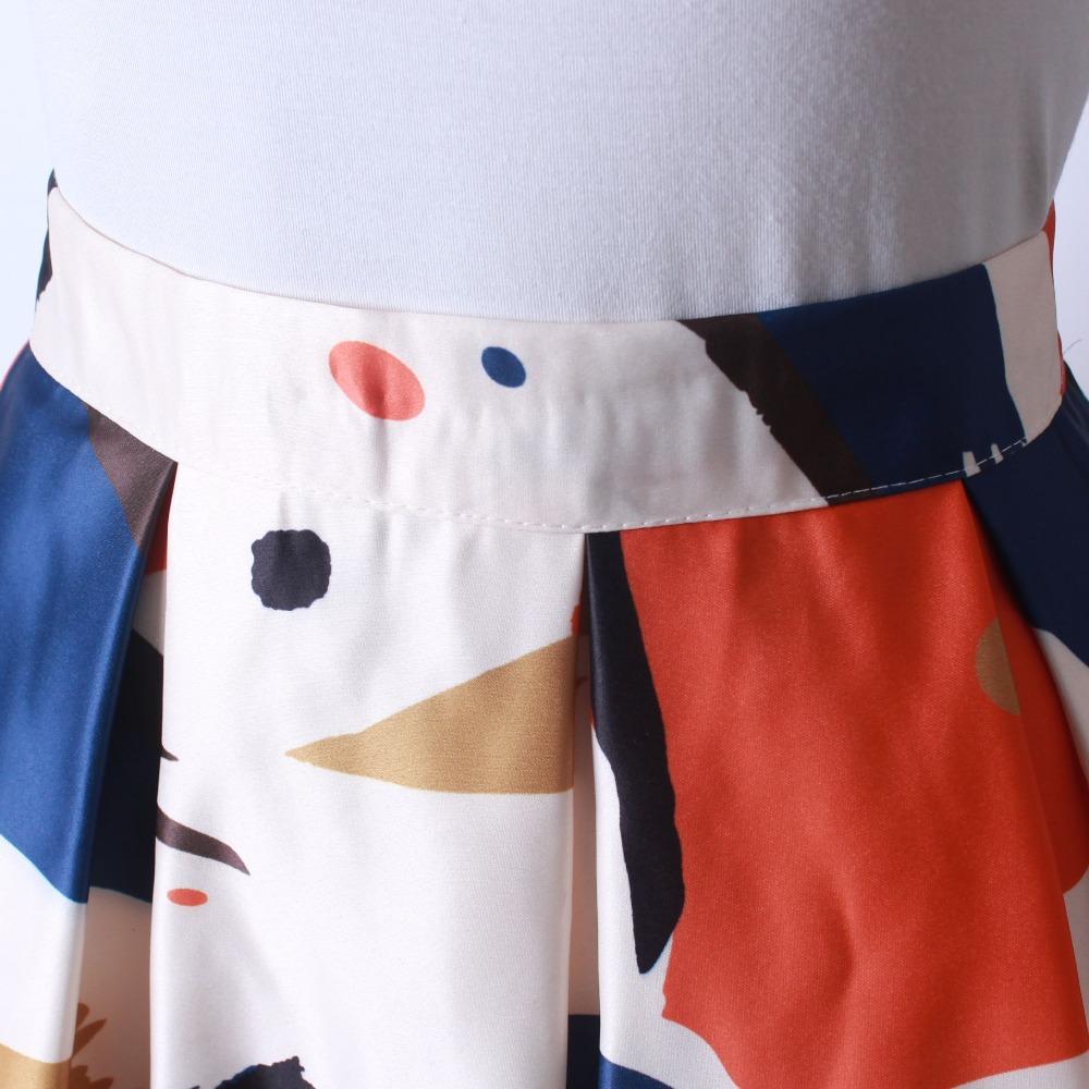 HTB1Zo5fQFXXXXa2XVXXq6xXFXXXm - GOKIC 2017 Summer Women Vintage Retro Satin Floral Pleated Skirts Audrey Hepburn Style High Waist A-Line tutu Midi Skirt