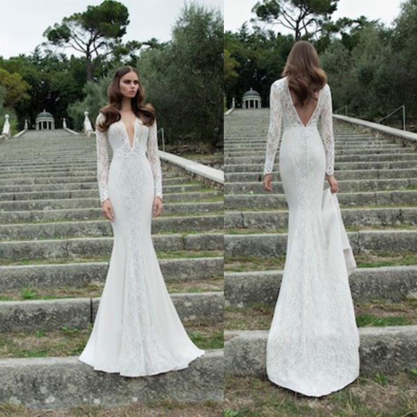 White low back long dress
