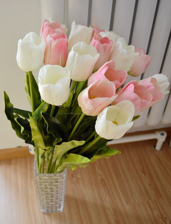 Holland Tulip Decorative Flower Artificial Wedding Home Hotel Party Event Gift 1 - BALALA ONLINE SHOP store