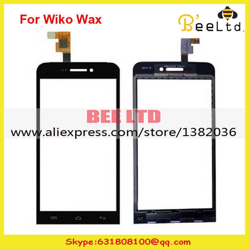 New High Quality Black For Wiko Wax Touch Screen Panel Digitizer Sensor Front Glass free shipping+Tracking(China (Mainland))