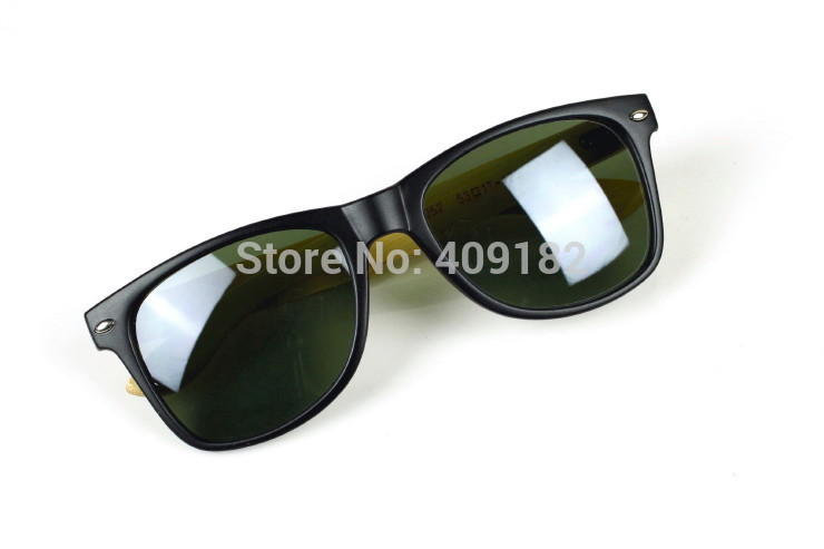 8 Color UV 400 Handmade Aviator Wayfarer Bamboo Sunglasses Retro Vintage Wooden Sides